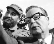 Fidel Castro with Salvador Allende