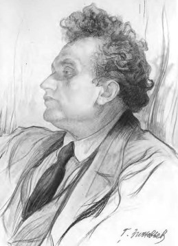 Grigorii Zinoviev, 1920 (Drawing I. Brodsky)