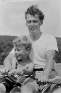 Gerry and John on the Gatineau River, 1949