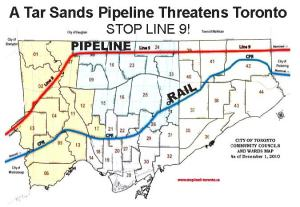 Toxic oil routes through Toronto