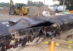 Tar sands pipeline break near Kalamazoo, Michigan