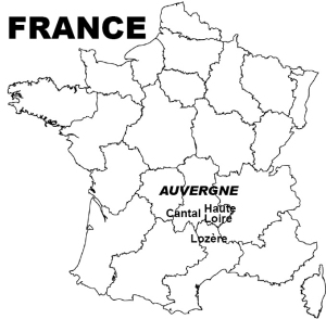 France outline map 4