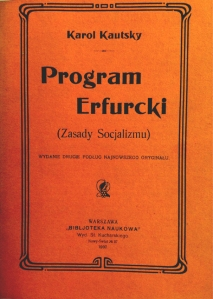Polish translation of Karl Kautsky's 'The Erfurt Program'