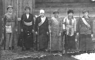 Finnish women red guard 1917-1